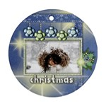 merry christmas 2 - Round Ornament (Two Sides)