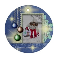 Merry Christmas 2 By Angel   Round Ornament (two Sides)   4gdxdvanxzpz   Www Artscow Com Back
