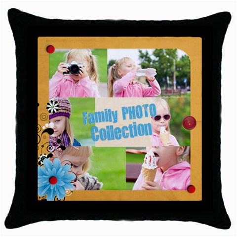 Family By Joely   Throw Pillow Case (black)   Rzfg2d0p0nmw   Www Artscow Com Front