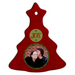 Red Joy Ornament By Jen   Christmas Tree Ornament (two Sides)   9lcxag4uzczm   Www Artscow Com Front