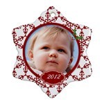 Snowflake snowflakes ornament - Snowflake Ornament (Two Sides)