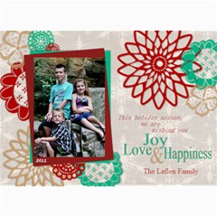 Flower Christmas Card By Lana Laflen   5  X 7  Photo Cards   D89dlyih2s1l   Www Artscow Com 7 x5 Photo Card - 8