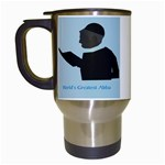 World s Best Father (English) Travel Mug (White)