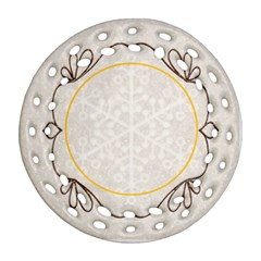 Merry Christmas 2011 Double Sided Filigree Ornament By Catvinnat   Round Filigree Ornament (two Sides)   Rhiov8y47z8h   Www Artscow Com Back