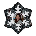 Bkack with white snowflake ornament - Ornament (Snowflake)