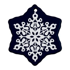Winter Wonderland Double Sided Snowflake Ornament By Catvinnat   Snowflake Ornament (two Sides)   B52g1nvjzahy   Www Artscow Com Back