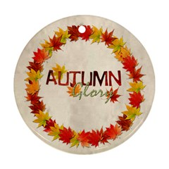 Autumn Glory Round Double Sided Ornament By Catvinnat   Round Ornament (two Sides)   C6gdrvq3glvu   Www Artscow Com Front