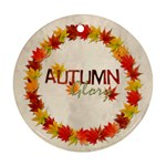 Autumn Glory Round double sided ornament - Round Ornament (Two Sides)