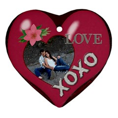 Love Heart Ornament (2 Sides) By Lil    Heart Ornament (two Sides)   Nj88vbig8ouu   Www Artscow Com Front