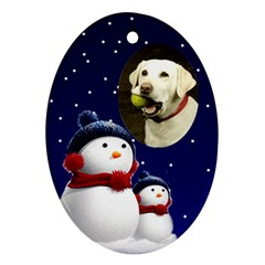 Snowmen Oval Ornament (2 Sided) By Deborah   Oval Ornament (two Sides)   Orgsj9xwy15j   Www Artscow Com Back