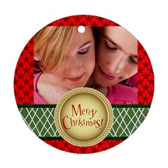 Xmas By May   Round Ornament (two Sides)   Vf5u84818ckb   Www Artscow Com Back
