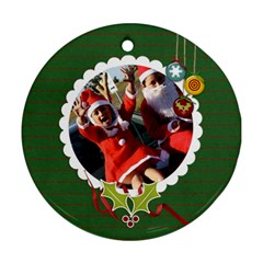 Round Ornament (two Sides): Holidays2 By Jennyl   Round Ornament (two Sides)   Yll9e05y73kx   Www Artscow Com Back