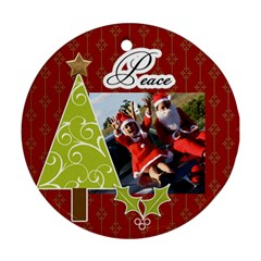 Round Ornament (two Sides): Holidays4 By Jennyl   Round Ornament (two Sides)   Nah6gamv76ej   Www Artscow Com Front