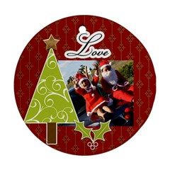 Round Ornament (two Sides): Holidays4 By Jennyl   Round Ornament (two Sides)   Nah6gamv76ej   Www Artscow Com Back