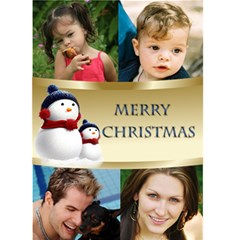 Four Photo Snowmen Christmas Card (5x7) By Deborah   Greeting Card 5  X 7    Wi02d4kpylve   Www Artscow Com Front Cover
