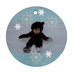 Round Ornament (two Sides): Holidays5 By Jennyl   Round Ornament (two Sides)   M05ei4pccrg6   Www Artscow Com Front