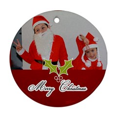 Round Ornament (two Sides): Holidays6 By Jennyl   Round Ornament (two Sides)   Vpxyeit4rzp4   Www Artscow Com Front