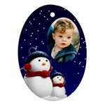 Snowmen Oval Ornament - Ornament (Oval)