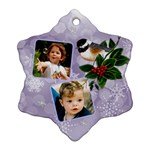 Little robin Snowflake Ornament (2 sided) - Snowflake Ornament (Two Sides)