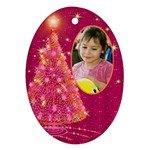 My Gold Christmas Tree ornament (2 Sided) - Oval Ornament (Two Sides)