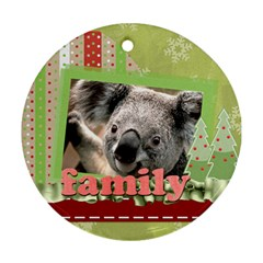 Family By Clince   Round Ornament (two Sides)   G1eazked65ru   Www Artscow Com Front