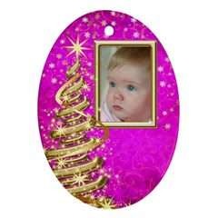 My Little Pink Princess Ornament (2 Sided) By Deborah   Oval Ornament (two Sides)   V1gzekt28cdh   Www Artscow Com Front