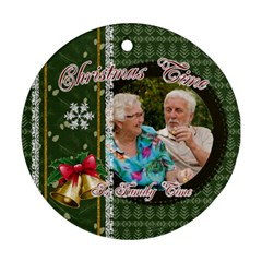 Xmas By Joely   Round Ornament (two Sides)   Brcohgaq18c0   Www Artscow Com Back
