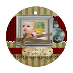 Xmas By Joely   Round Ornament (two Sides)   8y4544fr22c8   Www Artscow Com Front