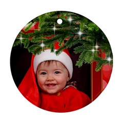 Merry Christmas Round Ornament (2 Sided) By Deborah   Round Ornament (two Sides)   C7kyqvg5xjyh   Www Artscow Com Back