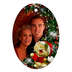 Sing Merry Christmas (2 Sided) Ornament By Deborah   Oval Ornament (two Sides)   Lt2r045cs1u6   Www Artscow Com Back