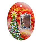 Christmas sparkle ornament - Ornament (Oval)