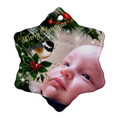 Merry Christmas Snowflake (2 Sided) By Deborah   Snowflake Ornament (two Sides)   Ufjil0zengte   Www Artscow Com Back