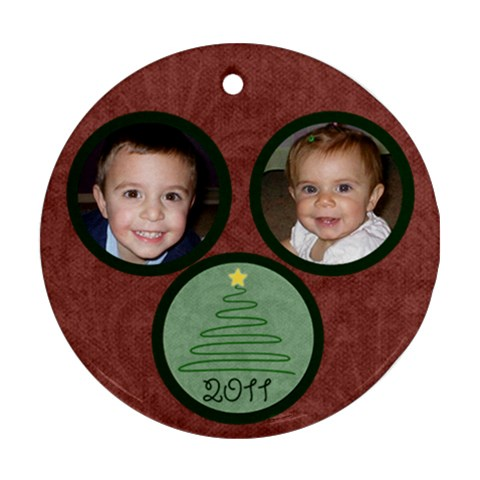 Jenny2 By Lindsay   Ornament (round)   Tm9010l6bhxk   Www Artscow Com Front