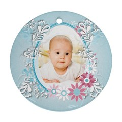 Baby By Wood Johnson   Round Ornament (two Sides)   Ilqyy56wwytv   Www Artscow Com Front