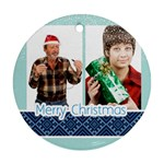 happy christmas - Round Ornament (Two Sides)