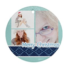 Happy Christmas By May   Round Ornament (two Sides)   Bz3brjqhjcw3   Www Artscow Com Back