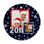 Santa Rudolf Penguin Round Double Sided ornament - Round Ornament (Two Sides)