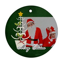 Round Ornament (two Sides) : Christmas Tree2 By Jennyl   Round Ornament (two Sides)   Jt1hordracml   Www Artscow Com Back