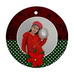 Round Ornament (Two Sides) : Poinsettia2