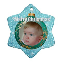 Bauble Snowflake Ornament By Deborah   Snowflake Ornament (two Sides)   6v9sqetxd7wz   Www Artscow Com Back