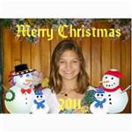 snowman family Christmas Card - 5  x 7  Photo Cards