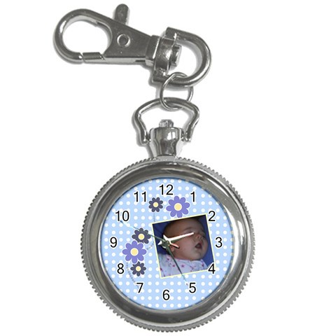 Serenity Blue   Key Chain Watch By Picklestar Scraps   Key Chain Watch   A0lkk70bvg7g   Www Artscow Com Front