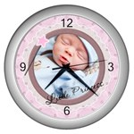 Little Princess Wall Clock (Silver)