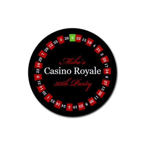 Casino Royal Night By Mum2 3boys   Rubber Coaster (round)   Vgjqdryv5xym   Www Artscow Com Front