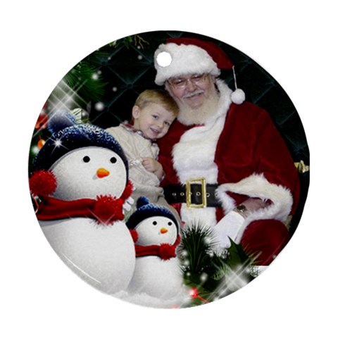My Christmas Ornament By Deborah   Ornament (round)   74h79wlbdfrc   Www Artscow Com Front