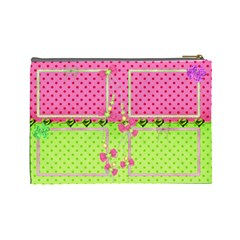 Little Princess (large) Cosmetic Bag By Deborah   Cosmetic Bag (large)   F3laqdedcd67   Www Artscow Com Back