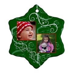 Christmas Collection  By Picklestar Scraps   Snowflake Ornament (two Sides)   V2ywa9sy0pl8   Www Artscow Com Front