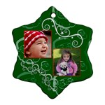Christmas Collection  - Snowflake Ornament (Two Sides)