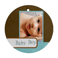 Baby By Wood Johnson   Round Ornament (two Sides)   Ndl1l5370xia   Www Artscow Com Back
