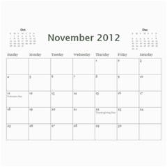 Calendar By Stacy French   Wall Calendar 11  X 8 5  (12 Months)   61l6g41yminu   Www Artscow Com Nov 2012